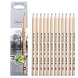 La Haute-Crayons à papier professionnels à mine en graphite 12-Count H~9B