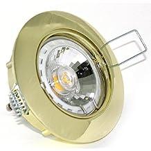 Möbel & Wohnaccessoires 14er Set Decken Einbauleuchte Spot Einbaustrahler Lisa 230V GU10 IP20 Farbe Weiß 5 Watt Power LED Dimmbar Warmweiß = 50 Watt