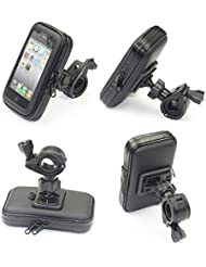 Cheeroyal universal 360 ° impermeable cambiar montaje de la motocicleta de la moto la caja del sostenedor del soporte del teléfono Vista posterior montaje del espejo para el iPhone para Samsung teléfono S4 S5 S6 S7 Nota 2 3 4 5 iPhone 4 5 6 6s 6 Plus LG HTC (M)