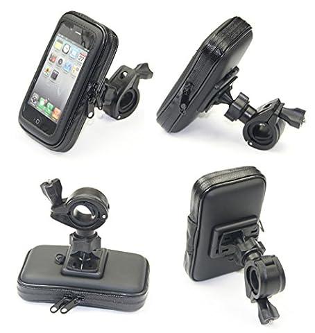 Cheeroyal Universal 360 ° Commutateur WaterProof mont Motorcycle Case Moto stand Phone Holder Vue arrière mont miroir pour iPhone pour Samsung téléphone S4 S5 S6 S7 Note 2 3 4 5 iPhone 4 5 6 6s 6 Plus LG HTC (L)