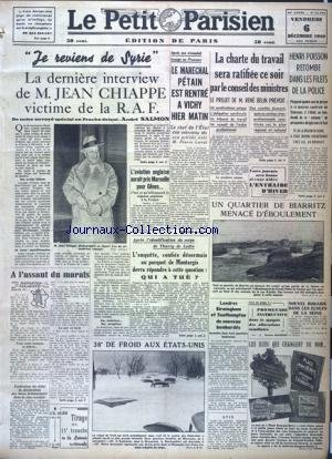 PETIT PARISIEN EDITION DE PARIS (LE) [No 23283] du 06/12/1940