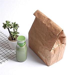 flower205 Isolierte Brottasche - 6L Brown Paper Lunch Bag umweltfreundlich Wiederverwendbare Büro Mittagessen Tasche