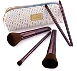 Anfänger Beauty Pinselset Mit 5 Kosmetikpinsel & Schminktasche Im Set
