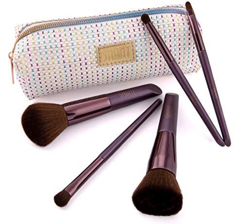 Weihnachtsgeschenk für Mädchen - Anfänger Beauty Pinselset Mit 5 Kosmetikpinsel & Schminktasche...