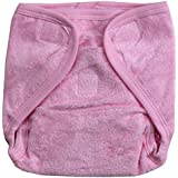 Annapurna Sales 100% Pure Ultra-Soft Cotton New Born Baby Diapers Or Reusable Padded New Born Baby Nappies - Pink ( 0 - 6 Months ) !! Skin Friendly And Premium Quality !!