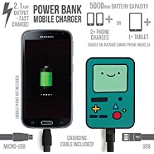 """Hora de aventuras """"BMO"""" banco de energía de batería 5000mAh con cable USB a Micro USB para Smartphone y Tablets"""
