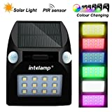 Solar Lights with Motion Sensors Garden Ornaments for Security, Driveway, Patio, Fence, Yard, Pathway, Hall, Garage, Stairway, Gate, Wall, Decking Lights Colour Changing