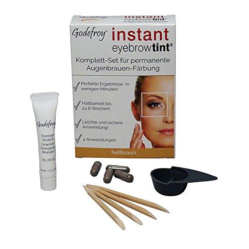 Godefroy Neu Augenbrauenfarbe Färbeset Instant Eyebrow Tint, hellbraun, 1er Pack (1 x 4 Stück)