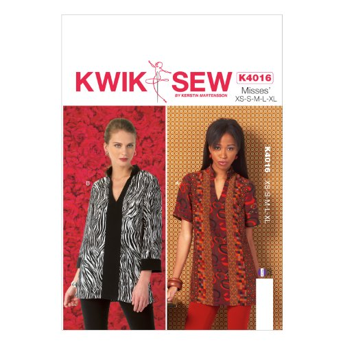 KwikSew modello K4016 Extra Small / Medium / Small / Large / modello di grandi dimensioni extra per tuniche, Multicolor