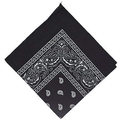 50% off - National Cotton Paisley Bandana Double Side Head Wrap Scarf Wristband Neckerchief by Boolavard