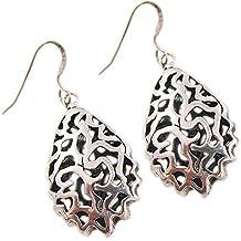 orecchini modo per le donne filigrana d'argento orecchini orecchini di perle 925 - Black Pearl Ciondola Gli Orecchini