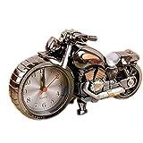 Original-Zwei-Ton Schwarz Motorrad Clock Nacht Wecker Desktop Clock