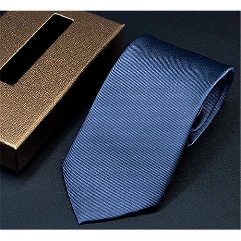 Manera de los hombres de negocios el lazo ocasional rayada se adapta a la corbata del lazo , g10
