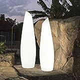 FREDO-Lampadaire d'extérieur LED avec câble H140cm Blanc New Garden