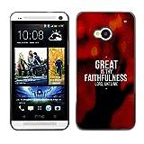 DREAMCASE (NICHT HTC ONE MINI M4) Bibelzitate Bild Hart Handy Schutzhülle Schutz Schale Case Cover Etui für HTC ONE M7 - Deine Treue ist gros