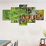 JWLSDT 5 Peintures sur Toile HD Imprimé Moderne Art Mural Peinture Rural Fleurs...