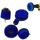 Catalpa - Juego de 5 cepillos para fijación de Alfombra, pavimento y cepillos de Taladro, diseño de Flores