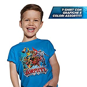 Giochi Preziosi Gormiti T - Camiseta (talla 7/8 años), varios colores