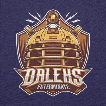 NERDO - Daleks Exterminate - Damen T-Shirt Navy