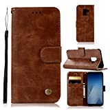 casefirst Samsung Galaxy A8 Plus 2018 Case, Carry Case Case for Premium PU Leather Card Slot Wallet Style Case for with Kickstand Flip Cover Case for Samsung Galaxy A8 Plus 2018