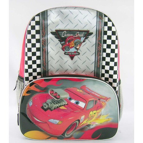 Disney Cars 16 Custom Speed Glittery Backpack by Disney