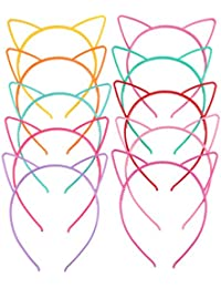 candygirl (TM) Girl 's de plástico pelo Tiara conejo gato lazo pelo