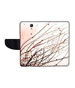 KolorEdge Printed Flip Cover For Redmi Xiaomi Note Multicolor - (55KeMLogo11190XiaomiNote)