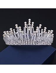 &zhou Tocado nupcial de la joyería del pelo por los accesorios 25 * 7cm del vestido de boda de la mano , silver bottom