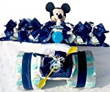 XXL Windeltorte mit 3 D Rasselsöckchen, Mickey Mouse mit Sprachfunktion
