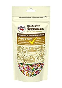 Quality Sprinkles Matt Rainbow Sugar Strands Sprinkles 150g