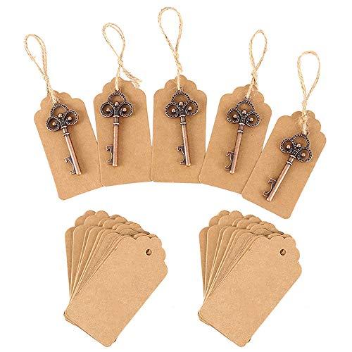 bottlewise 50 Stück Flaschenöffner Schlüsselanhänger, Retro, Geschenke für die Dusche, Gastgeschenke, Partys, Banketts, Bars, Lieferungen, Dekoration