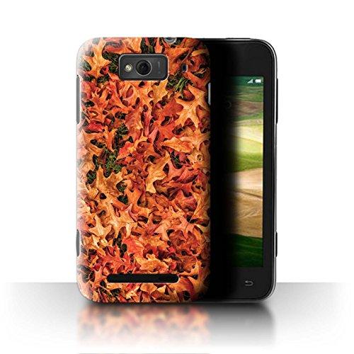 Stuff4® Hülle/Case für Xiaomi Mi 1S / Weißdorn/Rot Muster/Herbstblätter Kollektion (Red Mi 1s Handy)