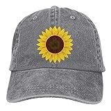 Hoswee Baseballmütze Hüte Kappe Sunflower Design Plain Adjustable Cowboy Cap Denim Hat for Women and Men