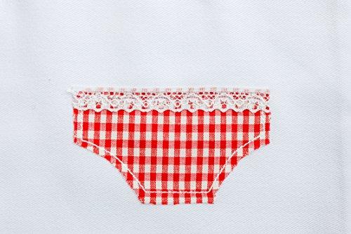 Wäschebeutel/Wäschesack/Aufbewahrung schmutzige Wäsche Schmutzwäsche weiß 38 cm x 27 cm bestickt Baumwolle Fair Trade Ringelsuse