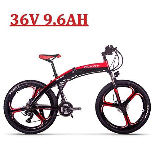 """eBike_RICHBIT 26 """" Bicicleta eléctrica Plegable, RLH-880, 250W 36V 9.6AH e Bicicleta, Frenos de Disco hidráulicos Ciclismo"""