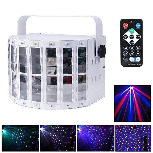 JUDYelc Bühnenlicht mit 30 Watt 9 LED MultiColor Lampen Wide Beams von IR Remote und DMX Control für DJ Disco Club Party Tanz Hochzeit Bar Theater Pub Weihnachtsbeleuchtung (Weiß) (Drahtlose Mikrofone Für Kirchen)