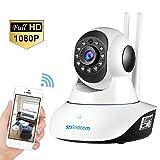 SZSINOCAM Telecamera di Sorveglianza Wireless 1080P HD IP Camera WiFi/Ethernet P2P IR Rilevatore di movimento Audio Bidirezionale, Modalità Notturna a Infrarossi, per casa / Baby / Animali domestici