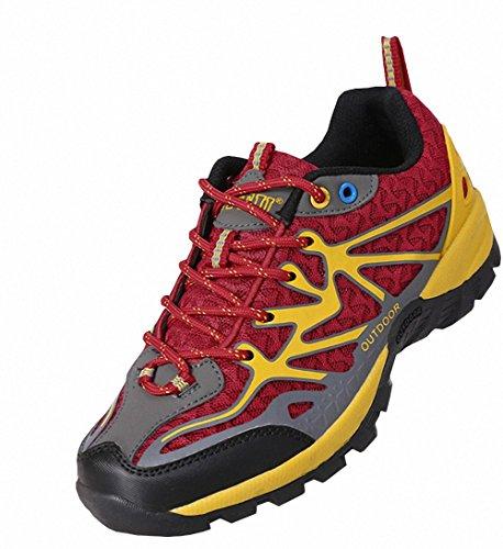 Ben Sports Calzature da carponi da trekking ed escursionismo Unisex da donna Uomo rosso