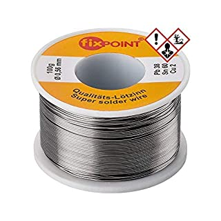 Fixpoint 51062 - Hilo de estaño para soldar (0,56 mm de diámetro, 100 g), color plata (B000V8JZ2A)   Amazon Products