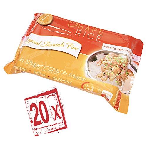 Shirataki Konjak Nudeln - Reis - Shape Noodles - 390 gr. (20x)
