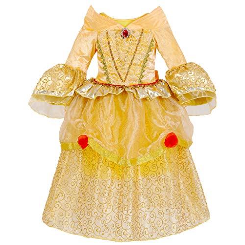 Mädchen Prinzessin Kleid Kostüm - Kinder Halloween Cosplay Ankleiden Kind Tutu Rock Langarm Für Party Ballkleid Cosplay Outfit Kleinkind 3-8 Jahre