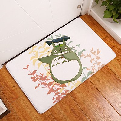 GRENSS Eingang Türmatten lustig Cartoon Ausdruck Totoro Teppiche Kinderzimmer Nachttisch Foot Pads Handwerk Küche Dekoration, Licht Gelb, 400 mm x 600 mm