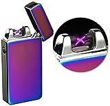 PEARL Sturmfeuerzeug: Elektronisches USB-Feuerzeug mit doppeltem Lichtbogen & Akku