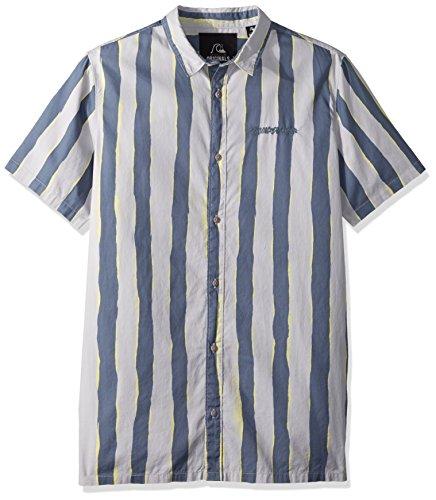 Quiksilver Herren MAD Wax Printed Shirt Woven Button Down Hemd, Sleet Madwax, XX-Large -