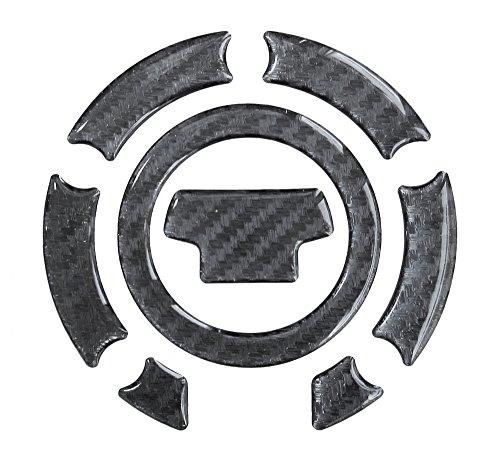 Tankdeckel-Pad 3D 630010 Carbon Schwarz - Hightech-Folie mit sichtbarer Struktur - universeller Tank-Schutz passend für Yamaha-Tanks