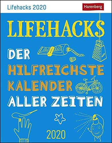 Lifehacks Wissenskalender. Tischkalender 2020. Tageskalendarium. Blockkalender. Format 11 x 14 cm