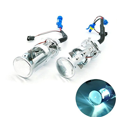 heinmo Bi Xenon KFZ HID H4 Projektor Objektiv HID Projektor Objektiv Scheinwerfer Lampe für Universal Auto Truck H4 Hi Low (6000k)