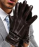 INFLATION Herren Lederhandschuhe Touchscreen Handschuhe für Smartphone