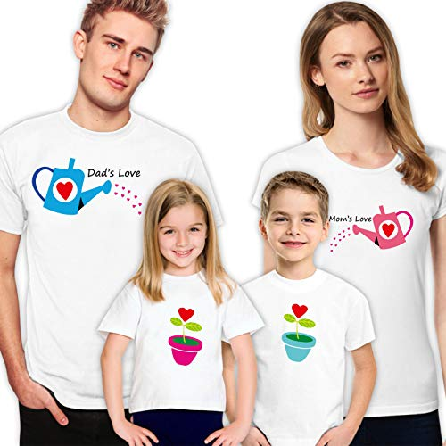 Watering Flowers Family Matching Shirts for T-Shirts Set of 4 Tshirt Gift Birthday