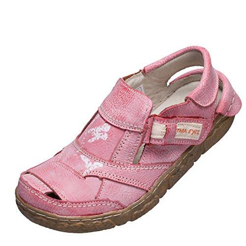 TMA Sandalette 7668. Größe 36 - 42 . Neues Modell. Tma Schuhe Breiter Schnitt. Bequem mit dicker Sohle und perforiertem Fußbett. Leder. In den Farben Antikgrün, Cremeweiss, Amtikrot oder Antikblau Antikrot